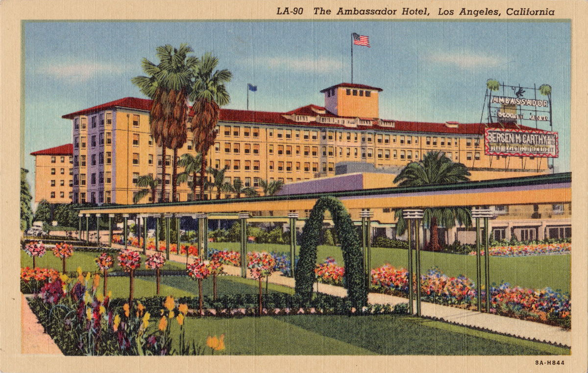 Lugosi in los angeles the ambassador hotel operator 13 for Hotel ambassador